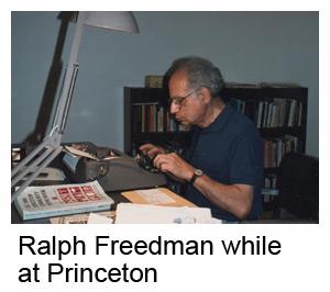 Ralph Freedman while at Princeton